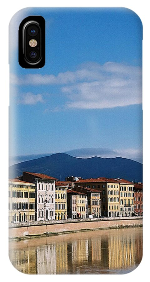 Pisa IPhone Case featuring the photograph Arno River Pisa Italy by Kathy Schumann