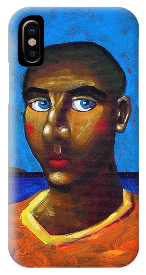 Arsonist IPhone Case featuring the painting Arsonist by Dimitris Milionis