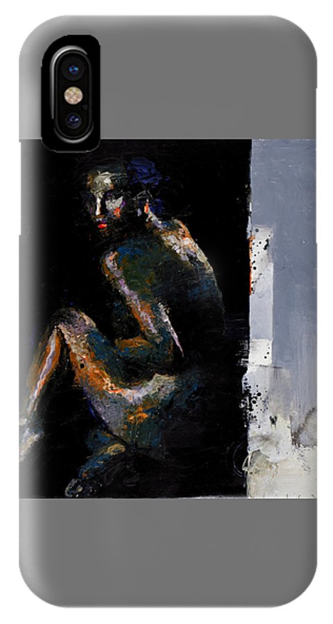 IPhone X Case featuring the painting Colour Inversions Temperate Chaos by Viktor Sheleg
