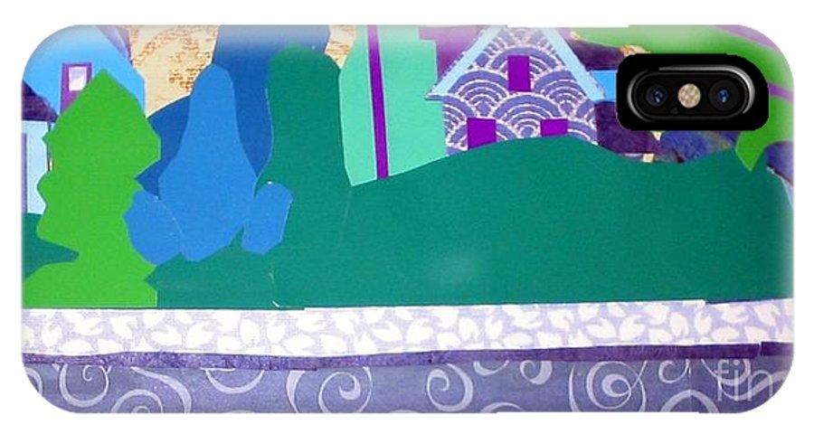 Landscape IPhone X / XS Case featuring the mixed media Art Colony by Debra Bretton Robinson