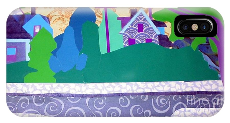 Landscape IPhone X Case featuring the mixed media Art Colony by Debra Bretton Robinson