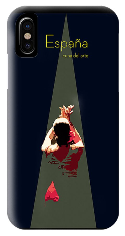 Dancer IPhone X Case featuring the digital art Arte Andaluz by Joaquin Abella
