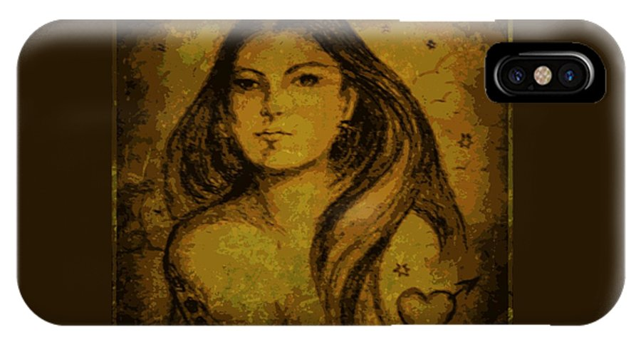 Woman IPhone X / XS Case featuring the mixed media Artemis Who by Leanne Seymour
