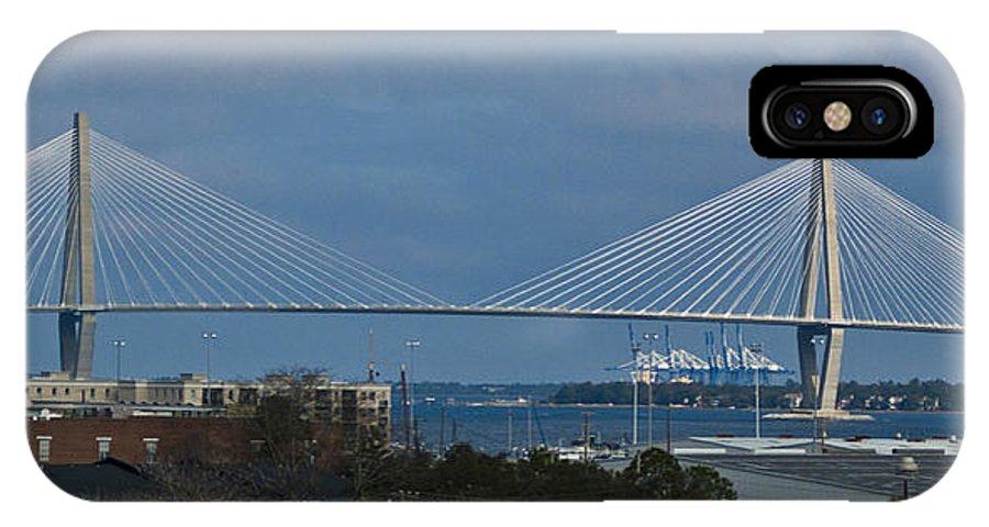 Charleston IPhone X Case featuring the photograph Arthur Ravenel Jr. Bridge by Bill Barber