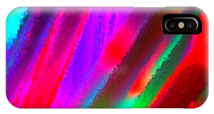 Colorful IPhone X / XS Case featuring the photograph Artificial Rainbow by Bill Ardern