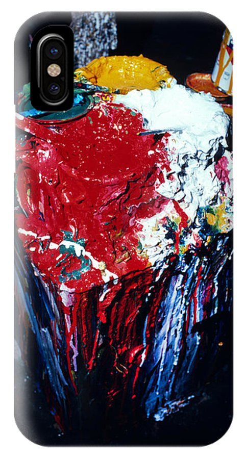 Cans IPhone X Case featuring the photograph Artist Paint In Bangkok by Carl Purcell