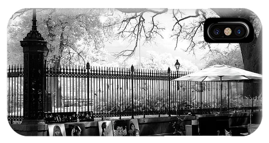 Artistic Day At Jackson Square IPhone X Case featuring the photograph Artistic Day At Jackson Square Infrared by John Rizzuto