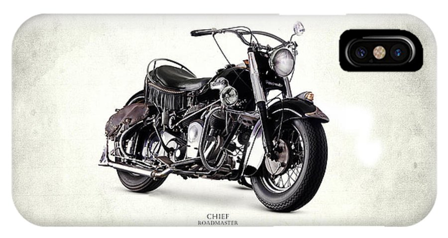Indian Chief IPhone X Case featuring the photograph Indian Chief Roadmaster 1953 by Mark Rogan