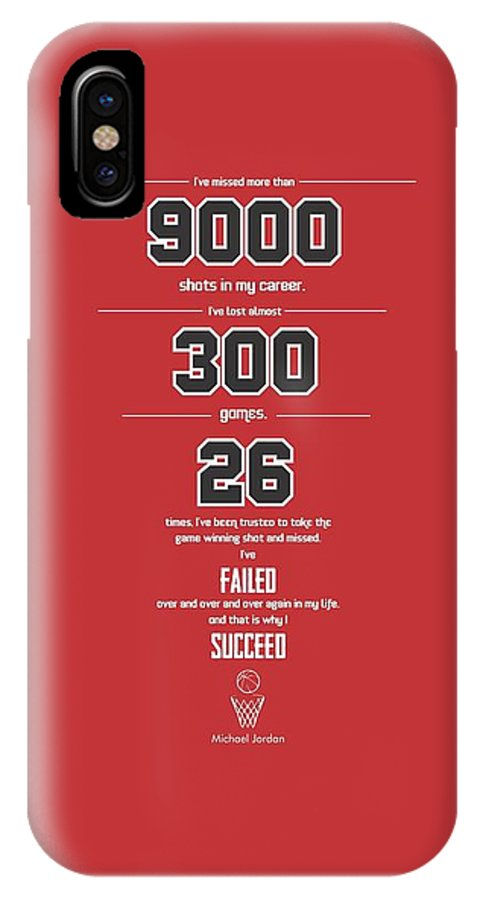 online store 1bf9e 00883 Michael Jordan Quote Sports Inspirational Quotes Poster IPhone X Case