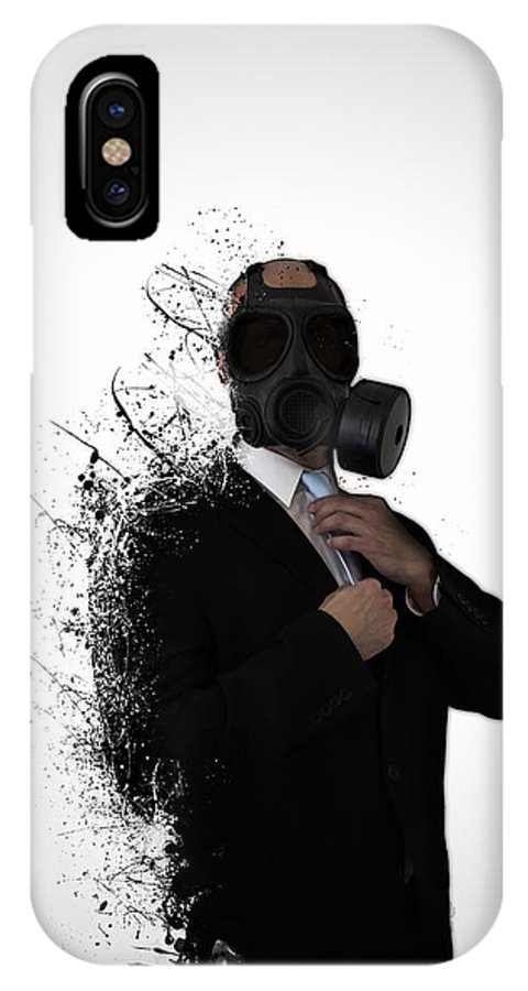 Gas IPhone X Case featuring the photograph Dissolution Of Man by Nicklas Gustafsson