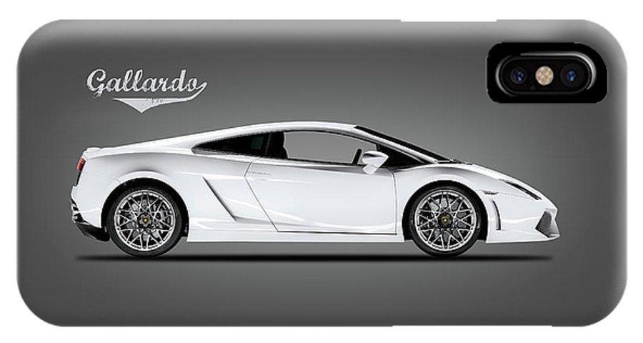 Lamborghini Gallardo IPhone X Case featuring the photograph The Lamborghini Gallardo by Mark Rogan