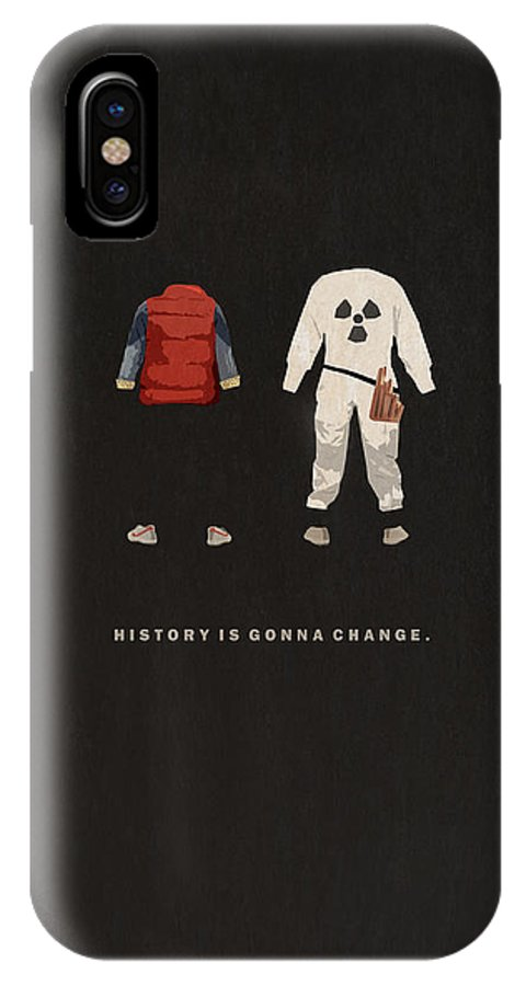 42cfc16772b0be Back To The Future IPhone X Case featuring the digital art Back To The  Future by