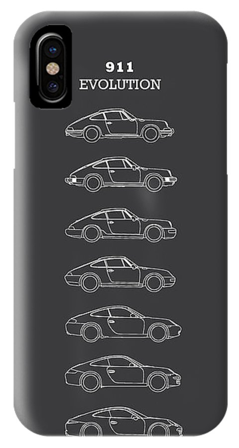 Porsche IPhone X Case featuring the photograph 911 Evolution by Mark Rogan