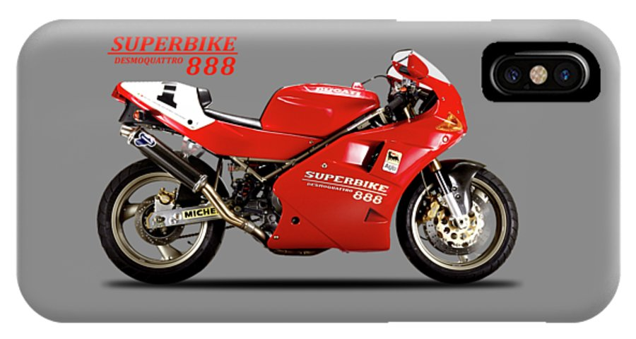 Ducati 888 IPhone X Case featuring the photograph Ducati 888 by Mark Rogan