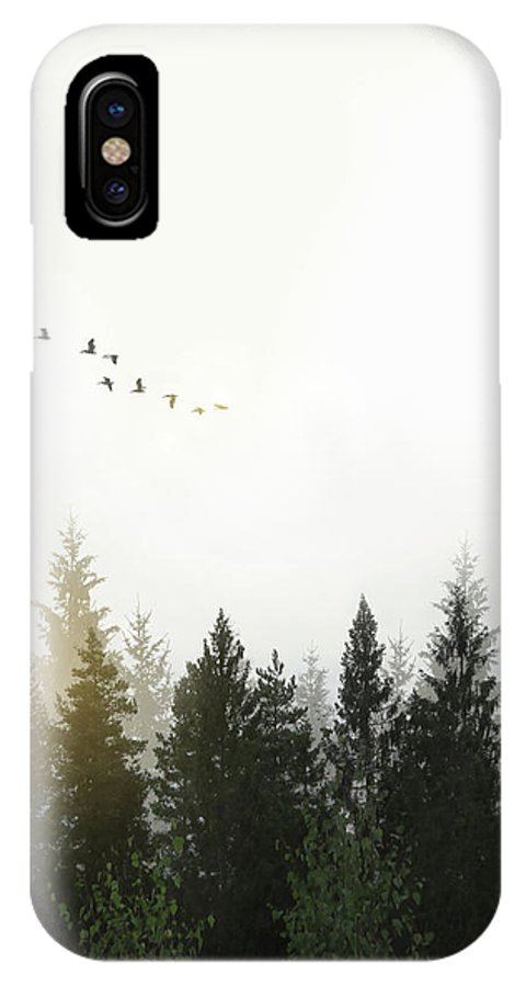 Forest IPhone X Case featuring the digital art Forest by Nicklas Gustafsson