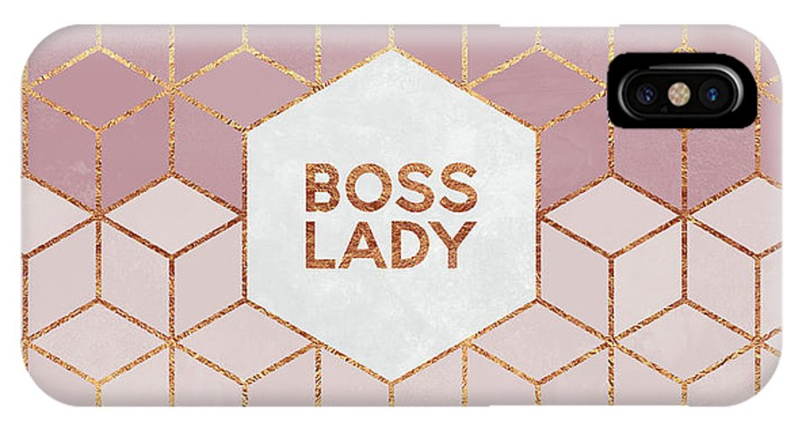 Graphic IPhone X Case featuring the digital art Boss Lady by Elisabeth Fredriksson