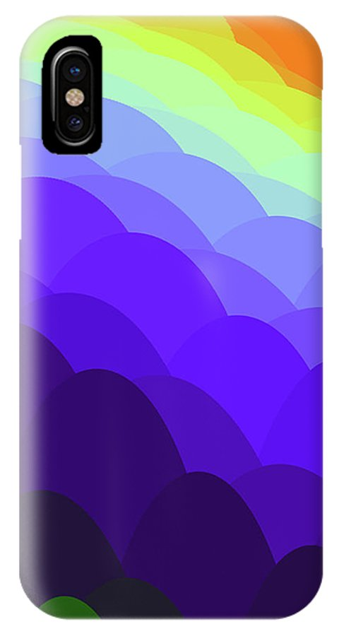 Sunset Over Water IPhone X Case featuring the painting Sunset Over Water by Methune Hively