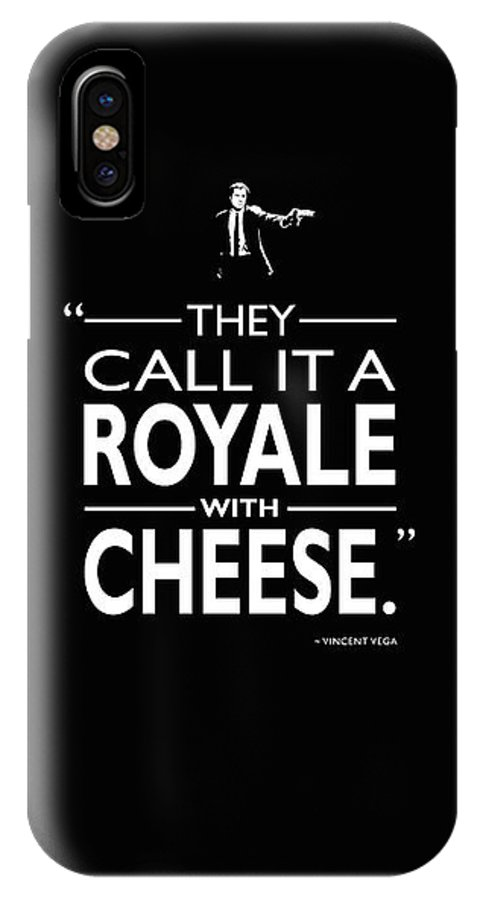 Royale With Cheese IPhone X Case featuring the photograph A Royale With Cheese by Mark Rogan