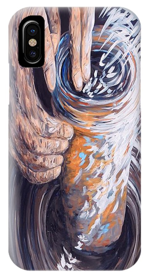 Christian IPhone X Case featuring the painting In The Potter's Hands by Eloise Schneider