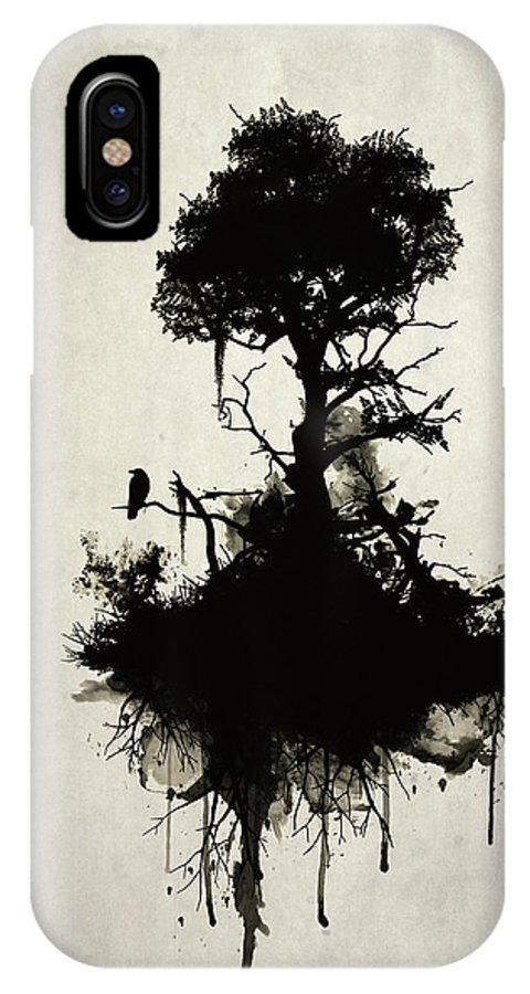 Nature IPhone X Case featuring the painting Last Tree Standing by Nicklas Gustafsson