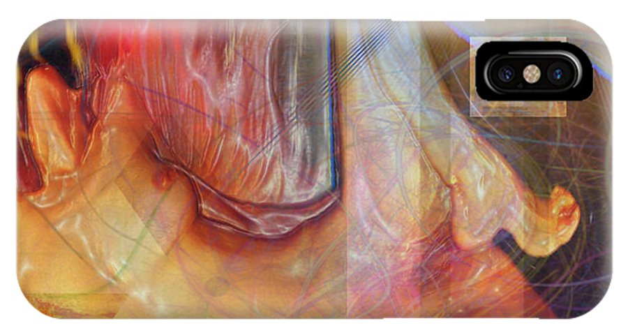 Passion Play IPhone X Case featuring the digital art Passion Play by John Beck