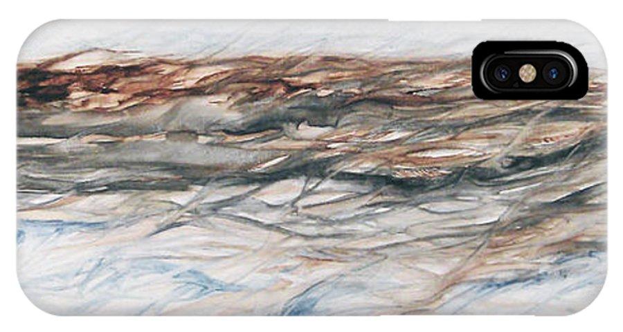 Above Air Artist As Below Blue Brown Darkest Darkestartist Earth Ground Painting Water Watercolor IPhone Case featuring the painting As Above Below by Darkest Artist