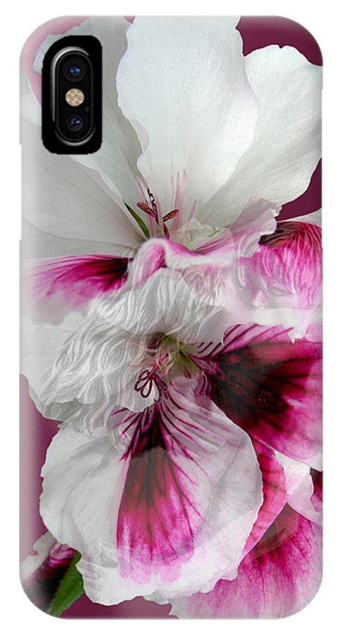 Fleurotica Art IPhone X Case featuring the digital art As One by Torie Tiffany