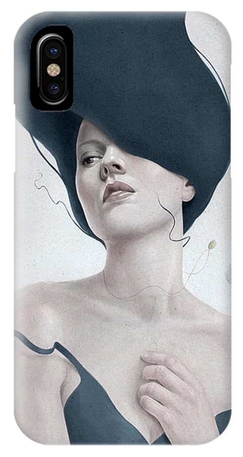 Woman IPhone X Case featuring the digital art Ascension by Diego Fernandez
