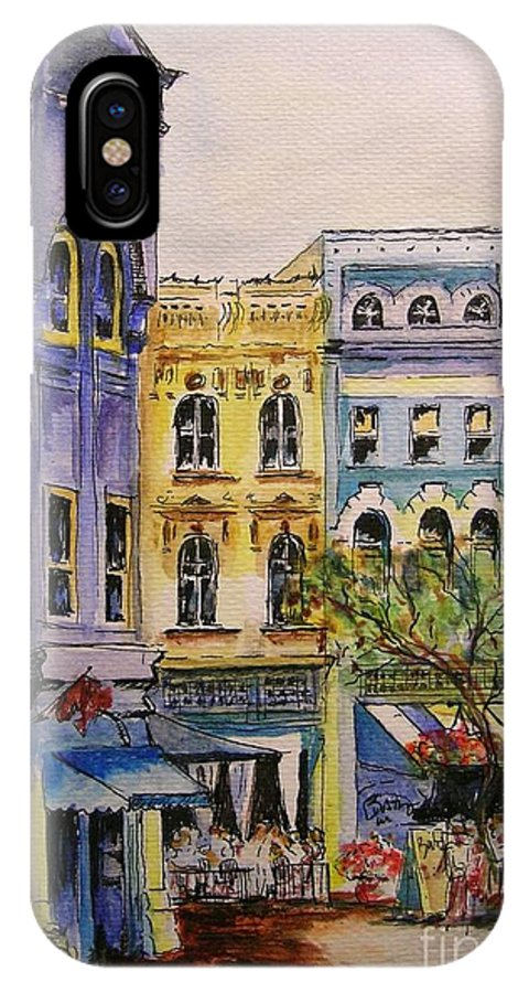 Townhouses IPhone Case featuring the painting Asheville by Lizzy Forrester