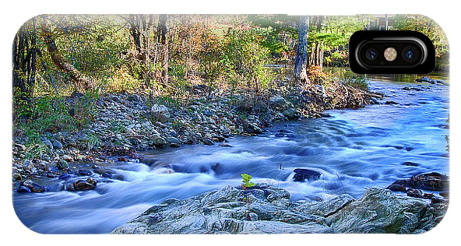 Asheville Stream IPhone X Case featuring the photograph Asheville Stream by Ronald Spencer