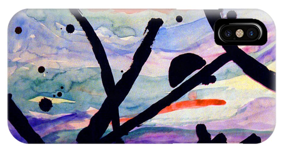 Abstract IPhone X Case featuring the painting Asian Impression by Steve Karol