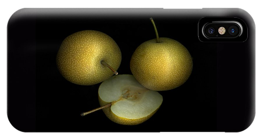 Culinary IPhone X Case featuring the photograph Asian Pears by Christian Slanec
