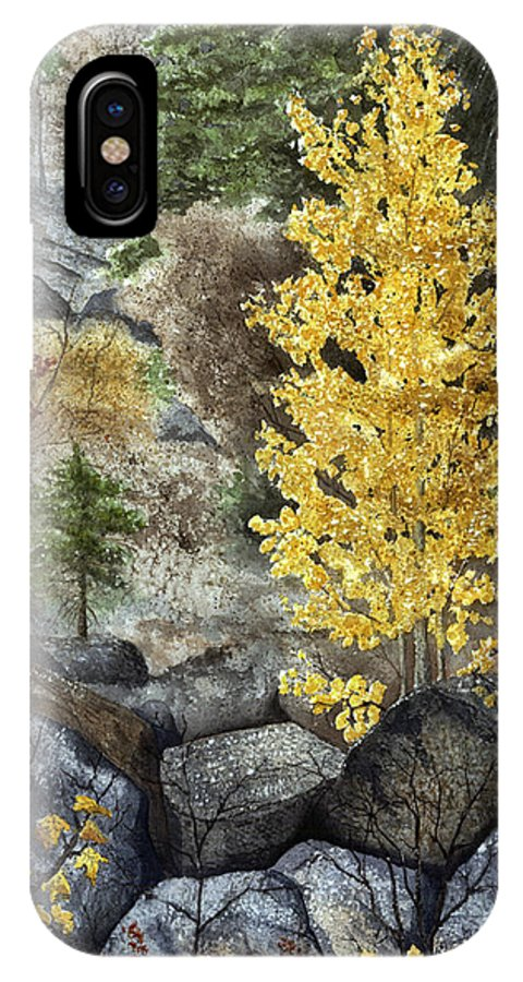 Autumn IPhone Case featuring the painting Aspen Gold by Mary Tuomi