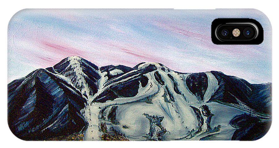 Aspen IPhone X Case featuring the painting Aspen by Jerome Stumphauzer