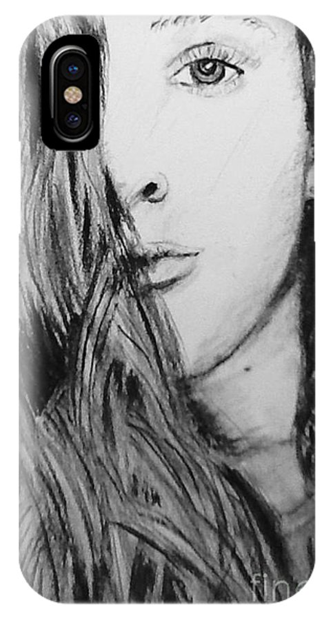 Portrait IPhone X Case featuring the drawing Aspen by Regan J Smith