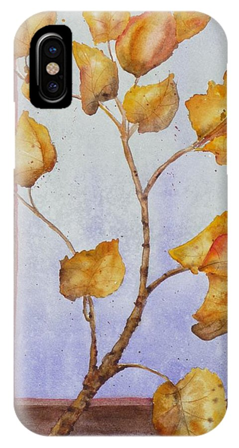 Leaves IPhone Case featuring the painting Aspen by Ruth Kamenev