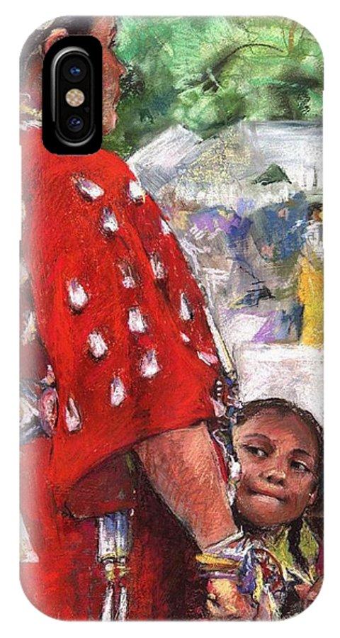 Southwestern Art IPhone X Case featuring the painting Aspire by Debra Jones