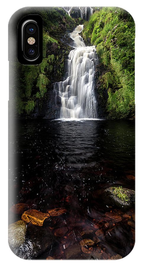 Donegal IPhone X Case featuring the photograph Assaranca Waterfall by Glen Sumner