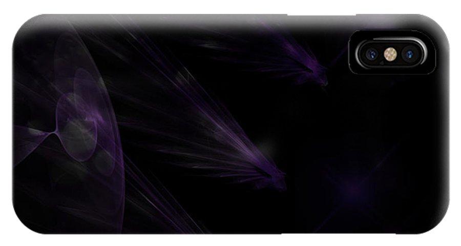 Asteroids IPhone X Case featuring the digital art Asteroids by Serena Ballard