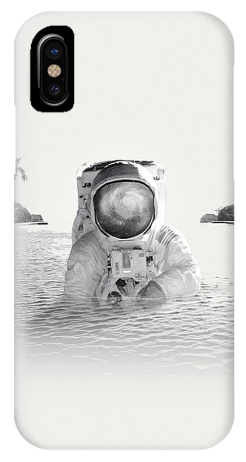 Collage IPhone X Case featuring the photograph Astronaut by Fran Rodriguez