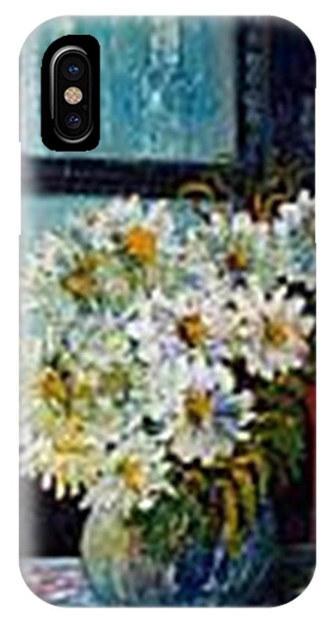 By The Window IPhone X Case featuring the painting At Home by Carol P Kingsley