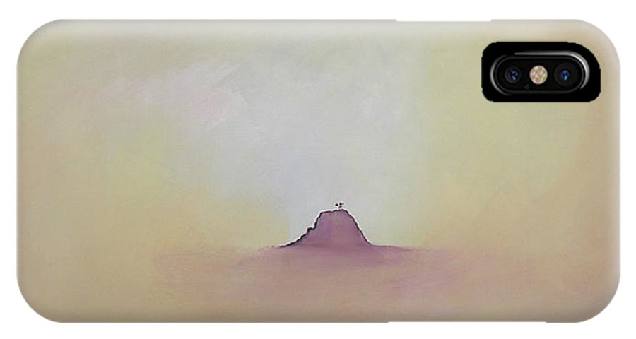 Abstract IPhone Case featuring the painting At Peace by Bojana Randall