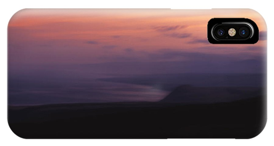 Sunset IPhone X Case featuring the photograph At Sundown by Ayesha Lakes