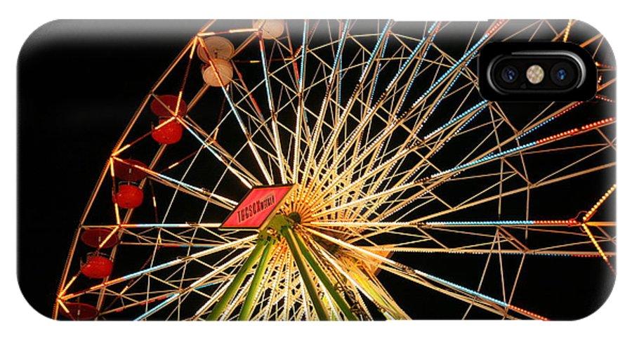 Ferris Wheel IPhone X Case featuring the photograph At The County Fair by Joe Kozlowski