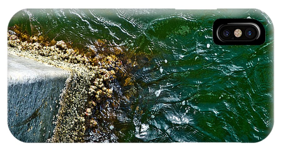 Ocean IPhone X Case featuring the photograph At The Pier by Jennifer Kelly