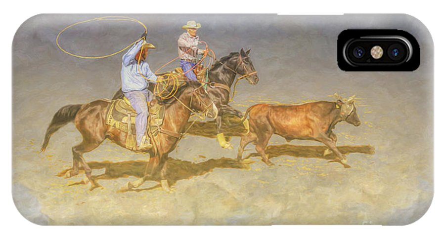 promo code 9863f 66d58 At The Rodeo Team Calf Roping IPhone X Case