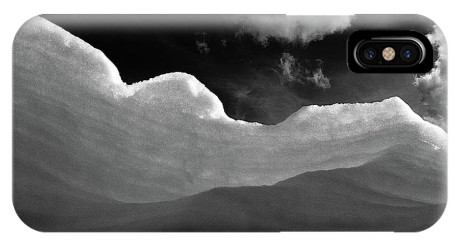 Black And White IPhone X Case featuring the photograph At The Slopes by MotionOne Studios