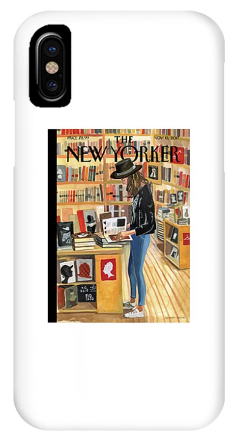 At The Strand IPhone X Case featuring the digital art At The Strand by Jenny Kroik
