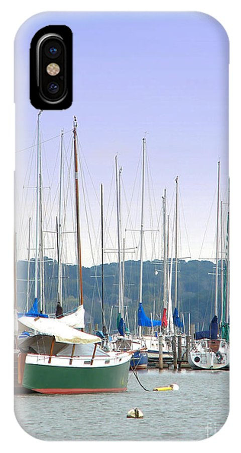 Seascape IPhone X Case featuring the photograph At The Yacht Club by Todd Blanchard