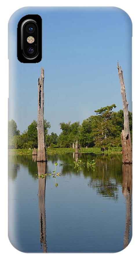 Bald Cypress IPhone X Case featuring the photograph Atchafalaya Basin 19 by Maggy Marsh